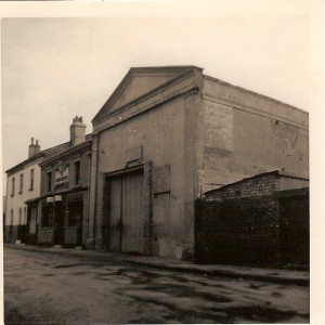 This photograph shows the former Bijou Cinema closed in 1922