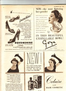 Page of adverts from Picturegoer May 1952 web