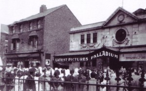 The Palladium with crowd