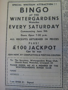 Winter Gardens Bingo advert web