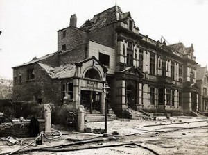 County Hall, Pembroke road Bootle bombed in 1941