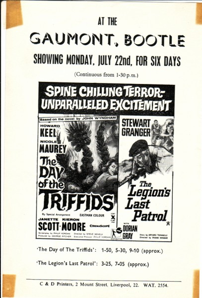 Day of the Triffids flyer web