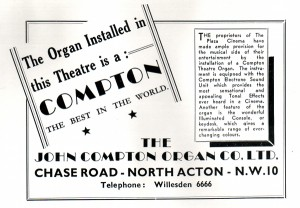 compton organ advert from souvinir programme 1939 web