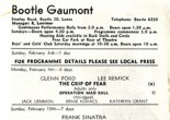 Cinema program from Boole Gaumont February 1962. Films showing at the cinema at that time included two 'abridged versions' this means that the films had been edited into shorter versions often in order to fit around the main feature